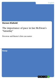 "Title: The importance of pace in Ian McEwan's ""Saturday"""