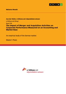 Merger and acquisition dissertation