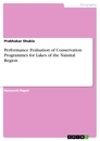 Title: Performance Evaluation of Conservation Programmes for Lakes of the Nainital Region