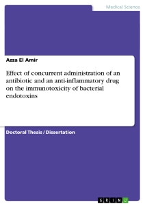 Title: Effect of concurrent administration of an antibiotic and an anti-inflammatory drug on the immunotoxicity of bacterial endotoxins