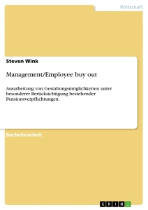 Titel: Management/Employee buy out