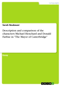 comparison between michael henchard and okonkwo essay