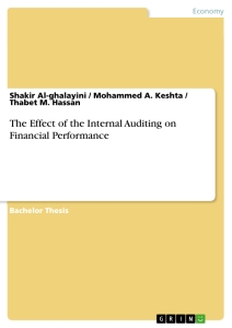 effect of internal control on financial The effect of the internal auditing on financial performance - shakir al-ghalayini mohammed a keshta thabet m hassan - bachelor thesis - business economics - investment and finance - publish your bachelor's or master's thesis, dissertation, term paper or essay.