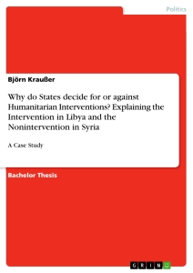 thesis on+humanitarian military intervention Law and military interventions: preserving humanitarian values in 21st conflicts prepared for the humanitarian challenges in military intervention conference.