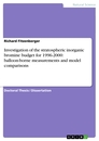 Title: Investigation of the stratospheric inorganic bromine budget for 1996-2000: balloon-borne measurements and model comparisons