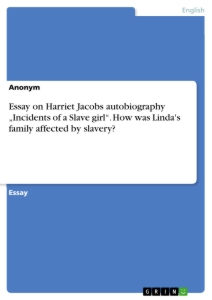 essays on harriet jacobs Category: essays research papers fc title: harriet jacobs.