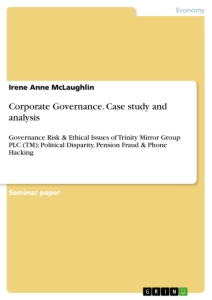 Principles of Corporate Governance: Analysis and Recommendations