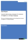 Title: Lexical inferencing strategies by learners of English as a foreign language