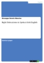 Titel: Right Dislocations in Spoken Irish English
