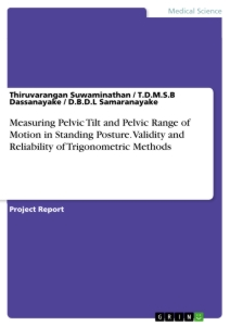 Title: Measuring Pelvic Tilt and Pelvic Range of Motion in Standing Posture. Validity and Reliability of Trigonometric Methods