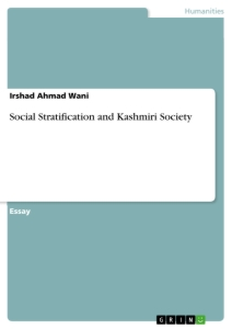 Title: Social Stratification and Kashmiri Society