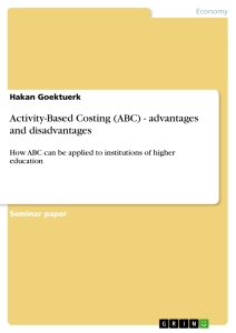 Title: Activity-Based Costing (ABC) - advantages and disadvantages