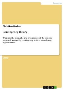 Title: Contingency theory