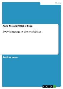 body language at the workplace publish your master s thesis title body language at the workplace
