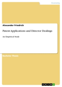 Title: Patent Applications and Director Dealings