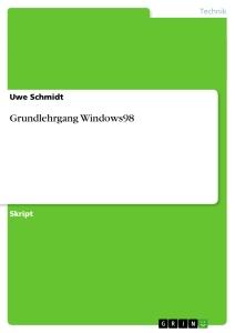 Titel: Grundlehrgang Windows98