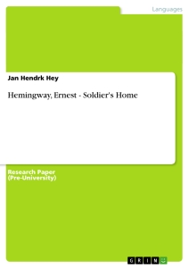 a plot and setting analysis of ernest hemingways a soldiers home The killers ernest hemingway web | the sun is but a morning star the door of henry's lunchroom opened and two men came in.