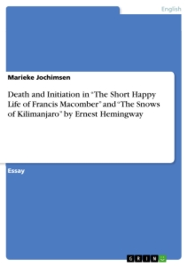 Critical essay on the short happy life of francis macomber