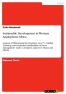 Titel: Sustainable Development in Western Anglophone Africa
