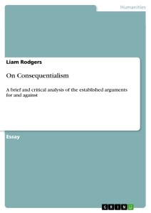 essays on consequentialism Free essays on consequentialist on abortion get help with your writing 1 through 30.