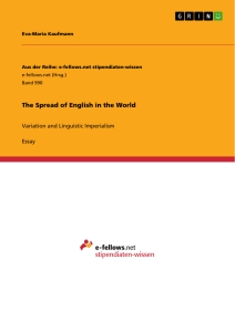 Titel: The Spread of English in the World