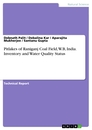 Titel: Pitlakes of Raniganj Coal Field, W.B, India. Inventory and Water Quality Status