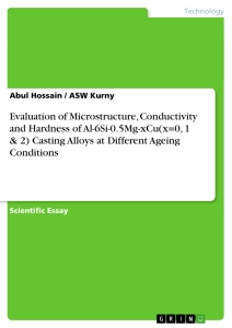 Titel: Evaluation of Microstructure, Conductivity and Hardness of Al-6Si-0.5Mg-xCu(x=0, 1 & 2) Casting Alloys at Different Ageing Conditions