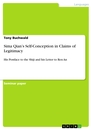 Titel: Sima Qian's Self-Conception in Claims of Legitimacy