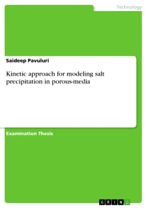 Titel: Kinetic approach for modeling salt precipitation in porous-media