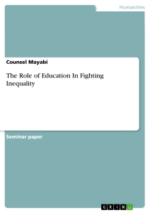 Titel: The Role of Education In Fighting Inequality