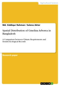 Titel: Spatial Distribution of Gmelina Arborea in Bangladesh