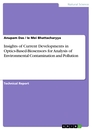 Titel: Insights of Current Developments in Optics-Based-Biosensors for Analysis of Environmental Contamination and Pollution