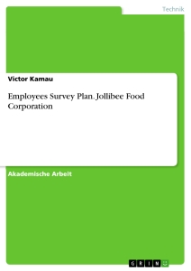 Titel: Employees Survey Plan. Jollibee Food Corporation