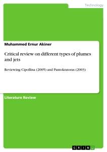 Titel: Critical review on different types of plumes and jets