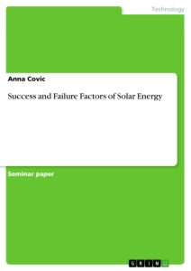 Titel: Success and Failure Factors of Solar Energy