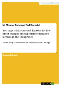 Titel: You reap what you sow? Reasons for low profit margins among smallholding rice farmers in the Philippines