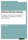 Titel: An analysis of the factors responsible for the alienation of genderqueers in West Punjab Pakistan