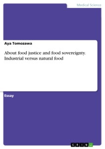 Titel: About food justice and food sovereignty. Industrial versus natural food