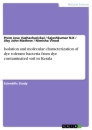 Titel: Isolation and molecular characterization of dye tolerant bacteria from dye contaminated soil in Kerala