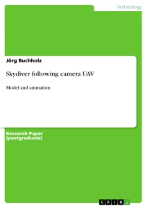 Titel: Skydiver following camera UAV