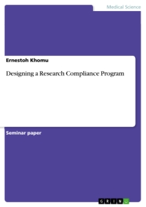 Titel: Designing a Research Compliance Program