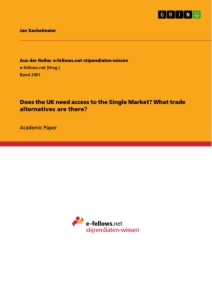 Titel: Does the UK need access to the Single Market? What trade alternatives are there?