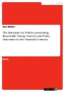 Titel: The Rationale for Policies promoting Renewable Energy Sources and Policy Outcomes in two National Contexts