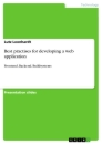 Titel: Best practises for developing a web application