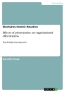 Titel: Effects of privatization on organizational effectiveness