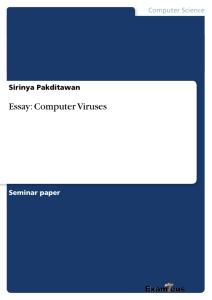 essay about computer viruses A computer virus definition, wikipedia-style looking for an essay-friendly definition here it goes: a computer virus is a program or piece of code designed to damage your computer by corrupting system files, wasting resources, destroying data or otherwise being a nuisance viruses are unique from other.