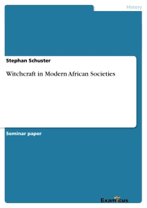 Titel: Witchcraft in Modern African Societies