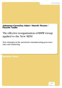 Title: The effective reorganization of BMW Group applied to the New MINI