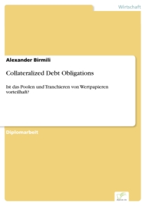 Titel: Collateralized Debt Obligations