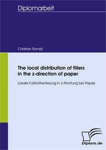 Title: The local distribution of fillers in the z-direction of paper